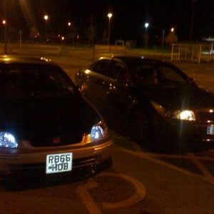 my ek3 and my audi a4